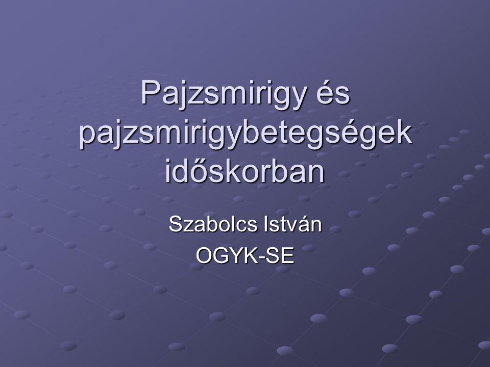 Pajzsmirigy és pajzsmirigybetegségek időskorban Szabolcs István OGYK-SE