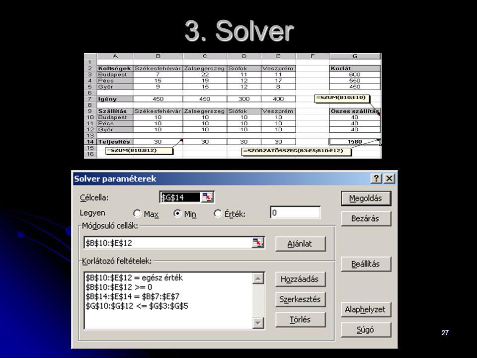 27 3. Solver