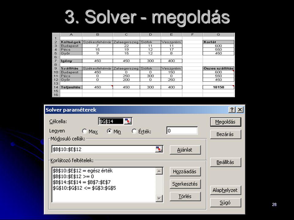 28 3. Solver - megoldás