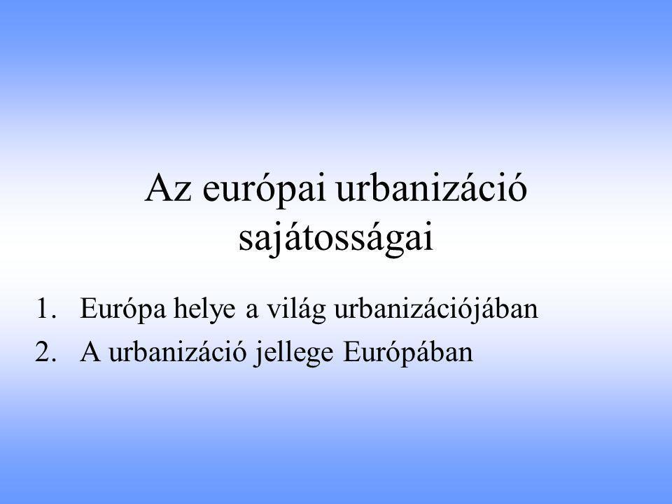 Az európai nagyvárosok és klasztereik geometriai középpontjainak földrajzi elhelyezkedése