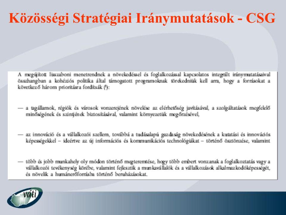Közösségi Stratégiai Iránymutatások - CSG