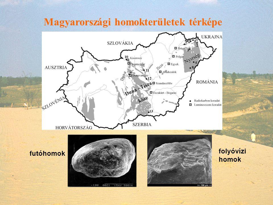 Magyarországi homokterületek térképe futóhomok folyóvízi homok