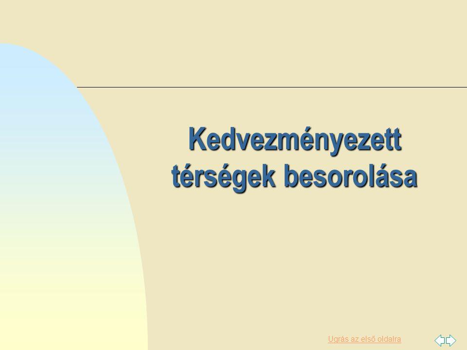 Ugrás az első oldalra A kedvezményezett térségek besorolásának előfeltétele A kedvezményezett térségek besorolásáról szóló Kormányrendelet A területfejlesztési támogatásokról és a decentralizáció elveiről, a kedvezményezett térségek besorolásának feltételrendszeréről szóló 67/2007.