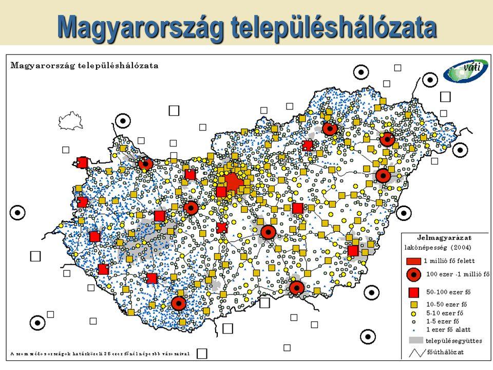 Ugrás az első oldalra Magyarország településhálózata Népesség- kategóriák (KSH) Települések száma (db) Az összes %-ában Lakó- népesség (fő) Az összes %-ában 0-499104633,3281 3462,8 500-99967421,4489 3534,9 1 000-1 999 65120,7940 8829,3 2 000-4 999 49115,61 475 26814,6 5 000-9 999 1404,5969 1299,6 10 000-49 999 1223,92 311 74822,9 50 000-99 999 120,4758 5087,5 100 000- 80,31 050 94210,4 Budapest10,01 698 10616,9