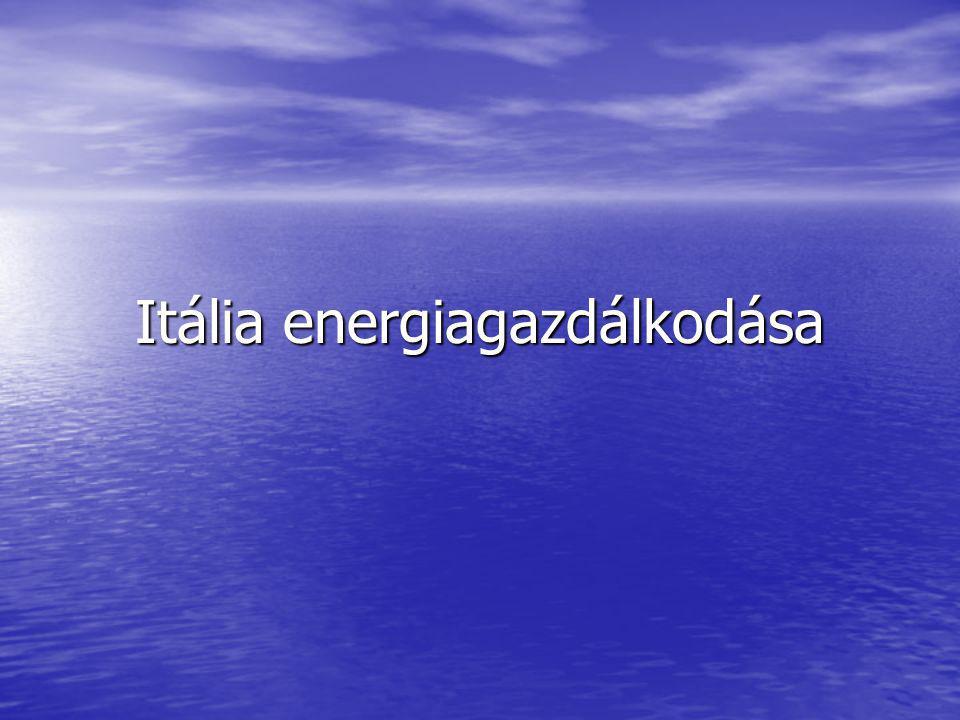 Itália energiagazdálkodása