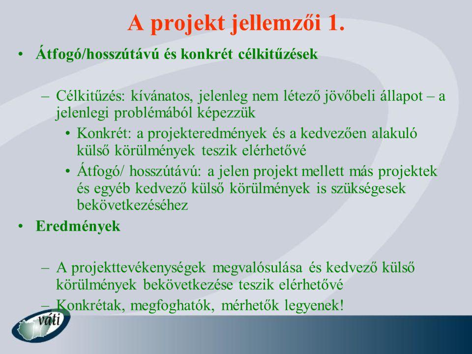 A projekt jellemzői 2.