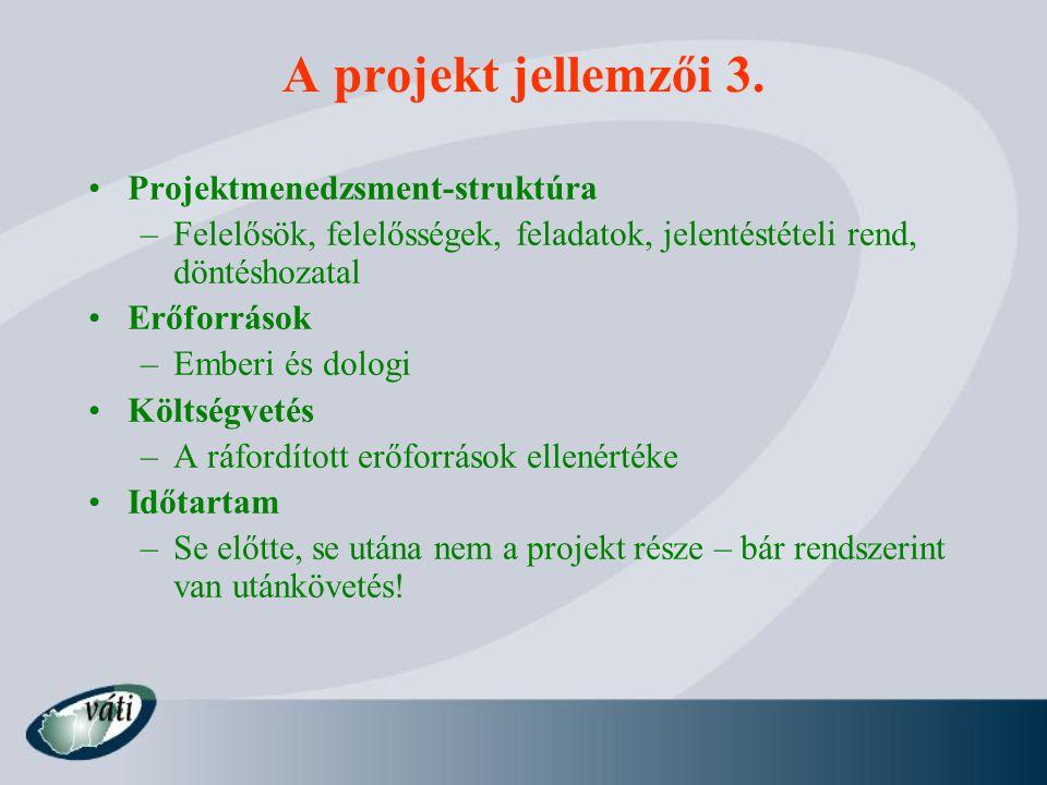 A Projektciklus Menedzsment (PCM) Programkészítés Identifikáció Kidolgozás Finanszírozás Megvalósítás Értékelés fejlesztési ötletek, tevékenységek meghatározása konzultáció a partnerekkel döntés a kidolgozandó ötletről a valós igényeken alapuló és az érintettek által támogatott ötlet projekttervvé fejlesztése döntés a pályázat beadásáról, a megcélzott forrásokról döntés a finanszírozásról finanszírozási szerződés megkötése tenderezés, szerződéskötések az aktuális és a tervezett haladás összevetése, döntés a szükséges módosításokról az elért eredmények felmérése, a az értékelés eredményeinek beépítése a tervezésbe Cél: - az érintettek hozzák meg a döntéseket - a döntések releváns információkra épüljenek döntés a fő célokról és prioritásokról  minden fázisban a fontos döntések: az információs követelmények, a felelősök meghatározása  a fázisok egymásra épülnek, a sikerhez minden fázist teljesíteni kell  a tapasztalatok beépülnek a következő programok és projektek tervezésébe