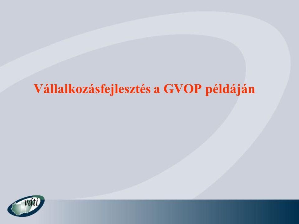 Vállalkozásfejlesztés a GVOP példáján