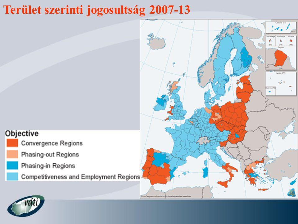 Terület szerinti jogosultság 2007-13
