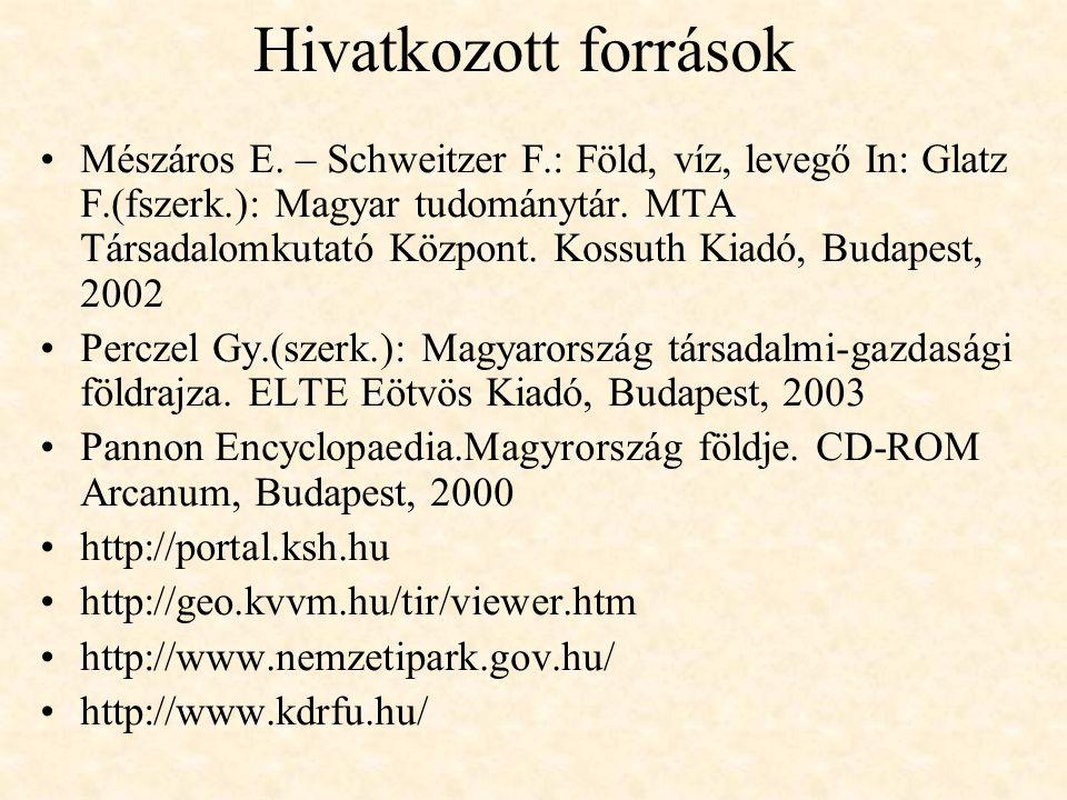 Hivatkozott források Mészáros E.