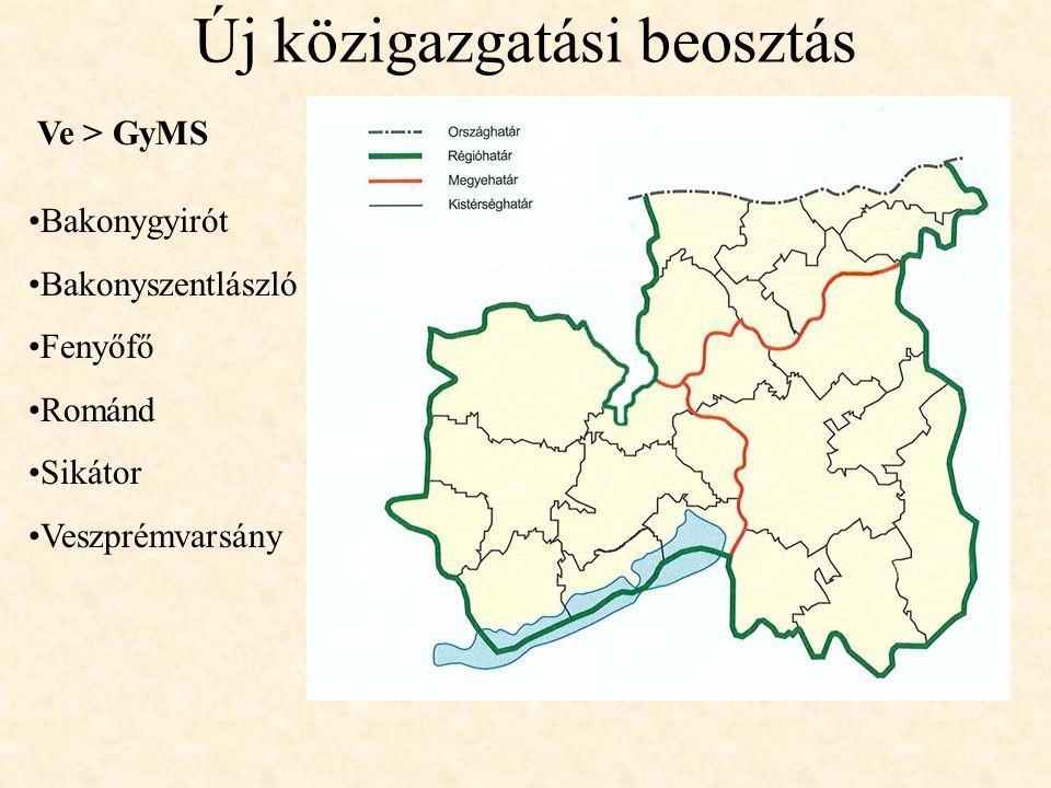 Új közigazgatási beosztás Bakonygyirót Bakonyszentlászló Fenyőfő Románd Sikátor Veszprémvarsány Ve > GyMS
