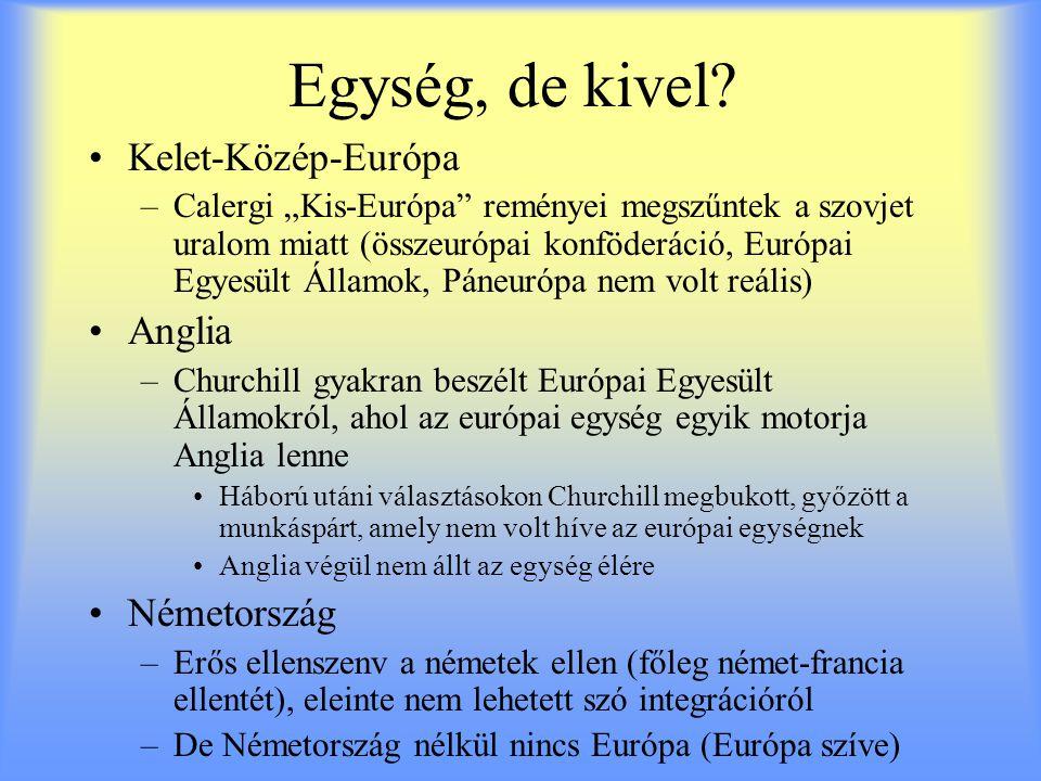 """Egység, de kivel? Kelet-Közép-Európa –Calergi """"Kis-Európa"""" reményei megszűntek a szovjet uralom miatt (összeurópai konföderáció, Európai Egyesült Álla"""