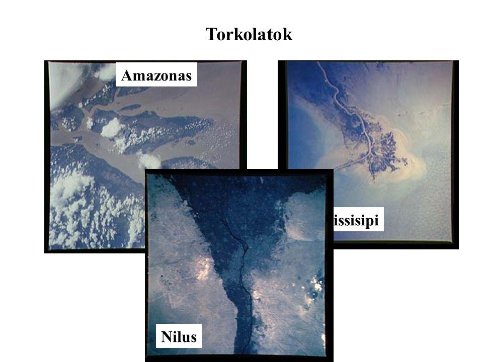 Torkolatok Amazonas Missisipi Nilus
