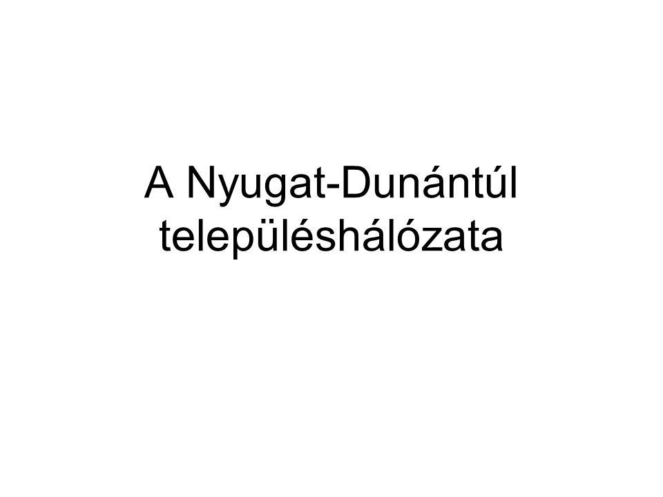 Nyugat-dunántúli régió megyei jogú városai A régióban öt megyei jogú város van: Győr, Sopron, Szombathely, Zalaegerszeg, Nagykanizsa.
