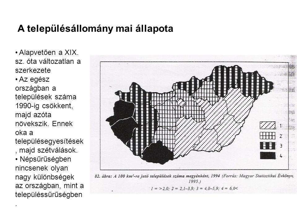 Az apró- és kis falvak gondjai Főleg Vas és Zala megyében találhatók.