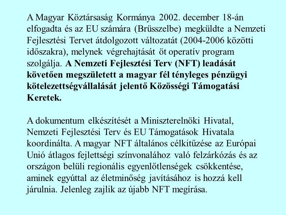 A Magyar Köztársaság Kormánya 2002.