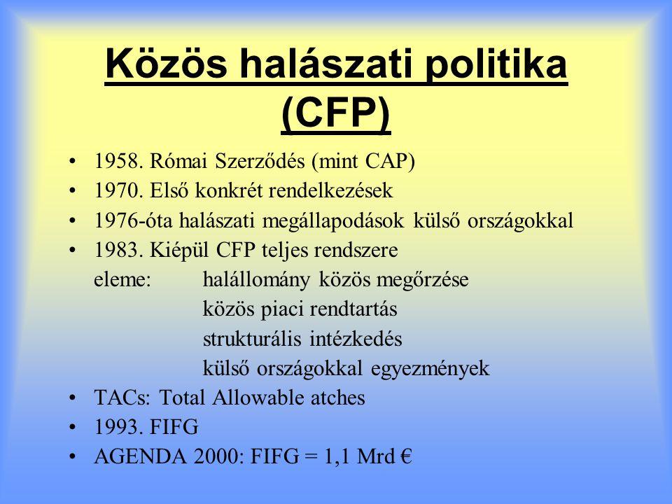 A magyar csatlakozás és a CAP Az egyik legfontosabb tárgyalási fejezet Átvilágítás 1,5 évig tartott (1998-99) Magyar álláspont: 1999.