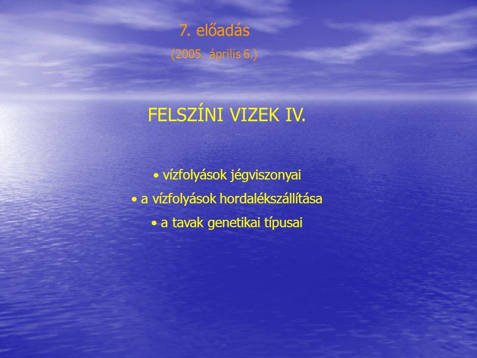 FELSZÍNI VIZEK IV.