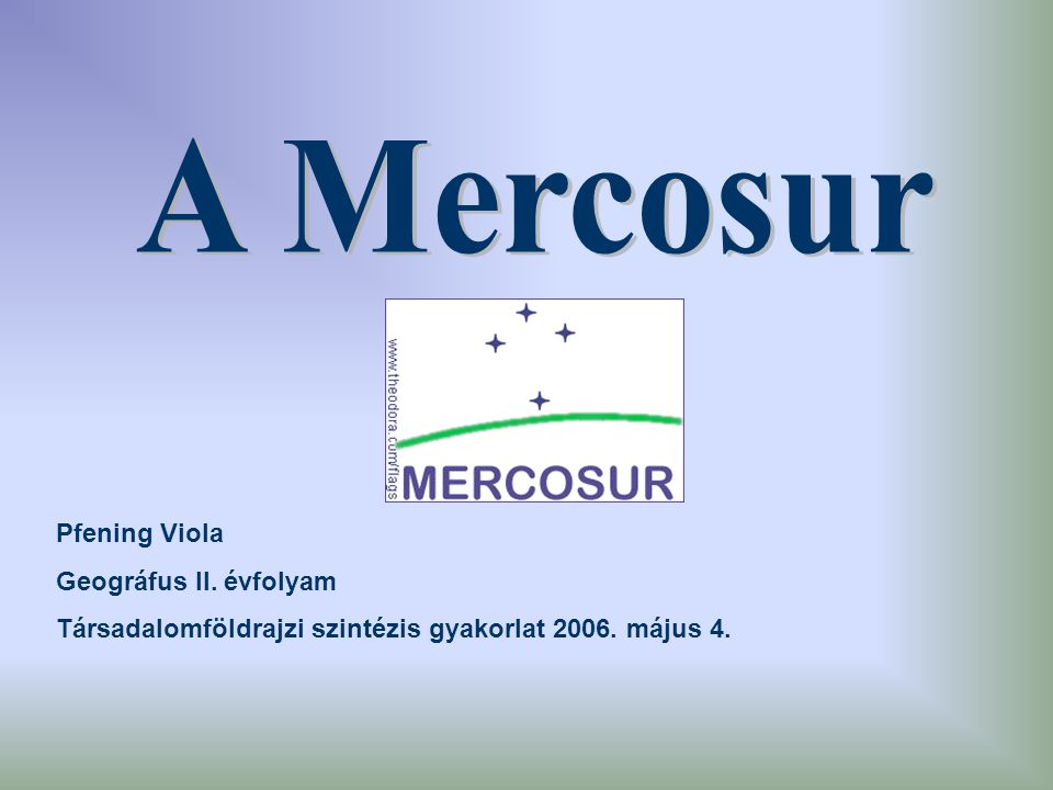 Pfening Viola Geográfus II. évfolyam Társadalomföldrajzi szintézis gyakorlat 2006. május 4.