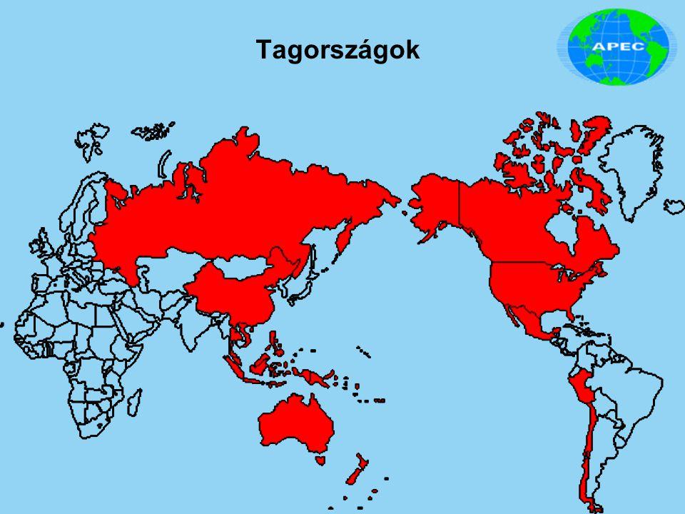 """Történelme 1989 - Camberra, Austrália Miniszteri szintű érdekegyeztető kapcsolat 12 tagország között 1993 - Blake Island, USA Tagországok gazdasági vezetői felvázolták az APEC jövőjét: """"stability, security and prosperity for our peoples. 1994 - Bogor, Indonézia Bogori Célok: """"szabad és nyílt kereskedelem és befektetés 2010-re a fejlett és 2020-ra a fejlődő tagországokban. 1995 - Osaka, Japán OAA (Osaka Action Agenda): keretet ad a kereskedelem és a beruházások liberalizációjának,"""