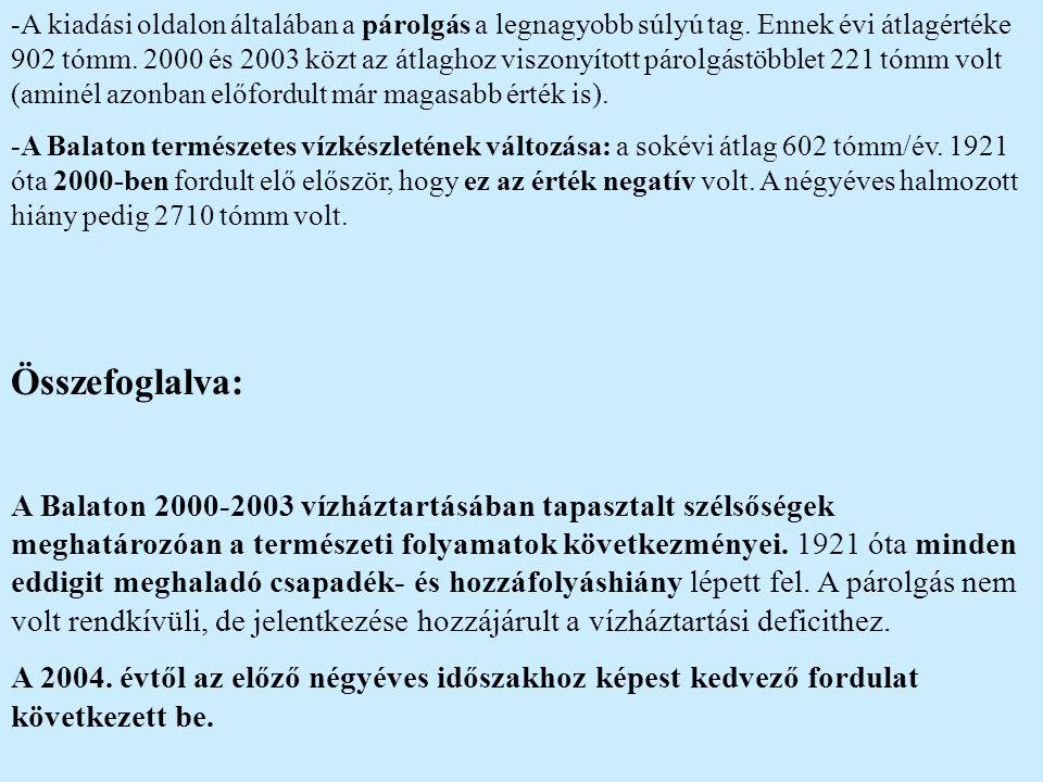 """A Balaton partvonal-szabályozása -A Balaton partvonal-szabályozásának kezdete az 1800-as évek végére (""""Déli vasút ) tehető."""