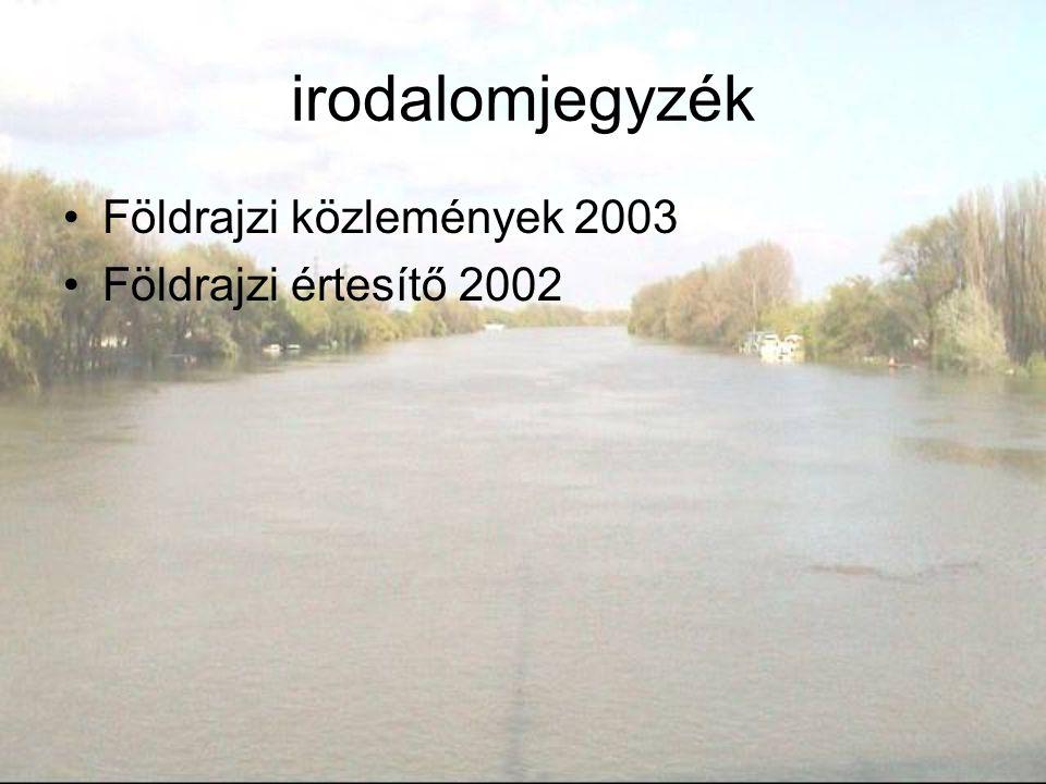 irodalomjegyzék Földrajzi közlemények 2003 Földrajzi értesítő 2002