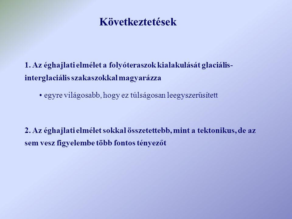 A tényezők, amiket nem szabad figyelmen kívül hagyni esésvízhozam hordalék mennyiség Tektonikus elméletek MUNKAKÉPESSÉG (a folyó energiaviszonyai) Komplexitás I.
