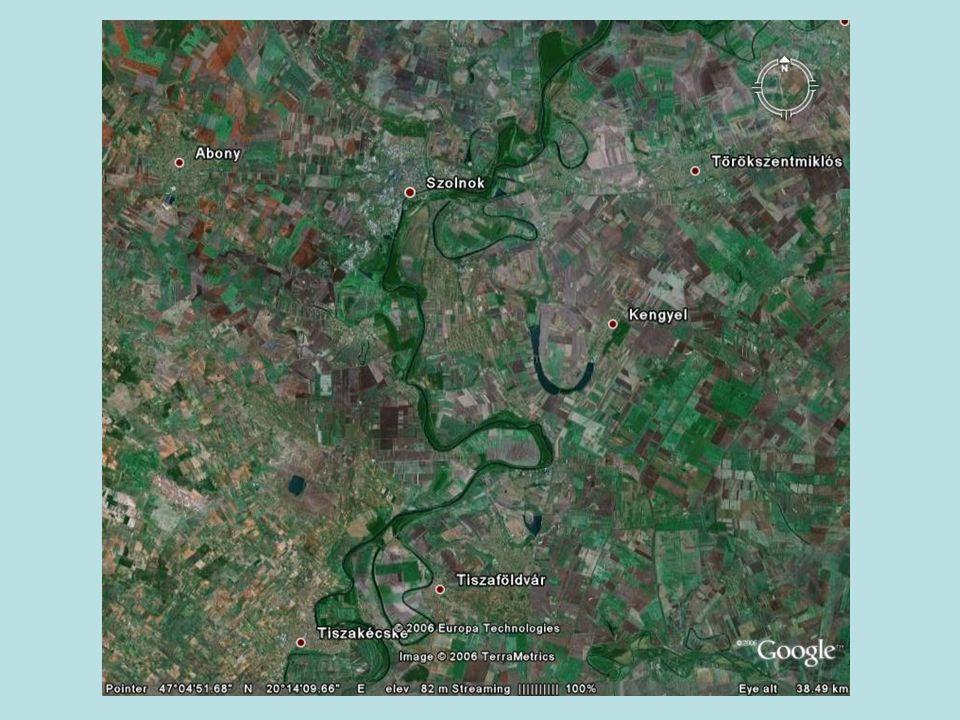 Geomorfológia Folyószabályozás után a Tisza a hullámtéren és az alacsony ártéren formálta a domborzatot Alacsonyártér és magasártér (ármentes) Tökéletesen sík Tisza-menti domborzat Relativ relief 1-2 m/km 2 Ős-Tisza hordalékát az ártereken rakta le Folyószabályozások után a hullámtéren Belvízveszély: Alacsonyártér lefolyástalan terepmélyedései (egykori folyómedrek, szikes laposok) Szikes laposok: Magasártér határán levált, részben feltöltött meanderek