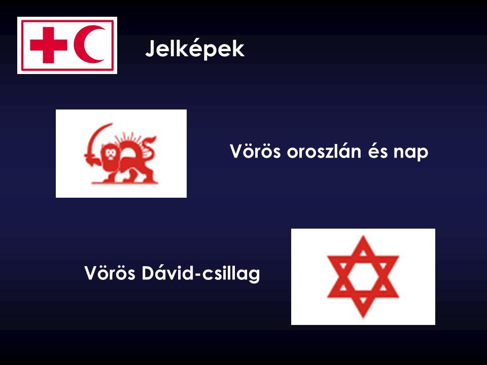 Vörös Dávid-csillag Vörös oroszlán és nap Jelképek