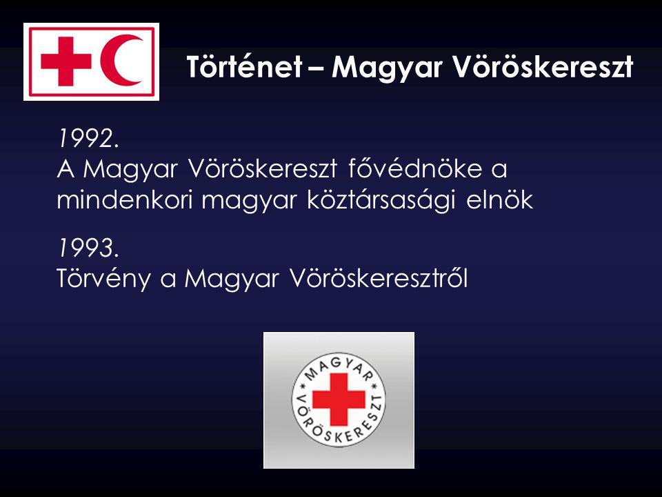 A Magyar Vöröskereszt által ellátott feladatok Véradásszervezés Elsősegélynyújtás Szociális tevékenység Oktatás, képzés Keresőszolgálat Katasztrófa segélyezés