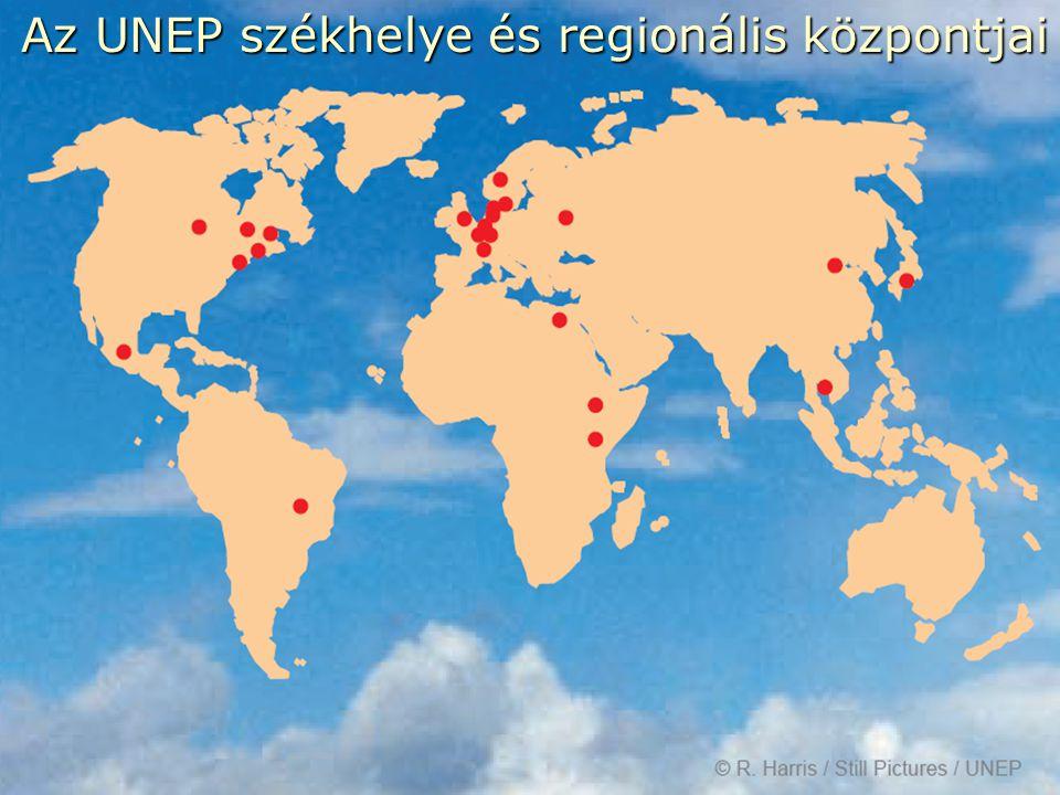13 Az UNEP székhelye és regionális központjai Az UNEP székhelye és regionális központjai
