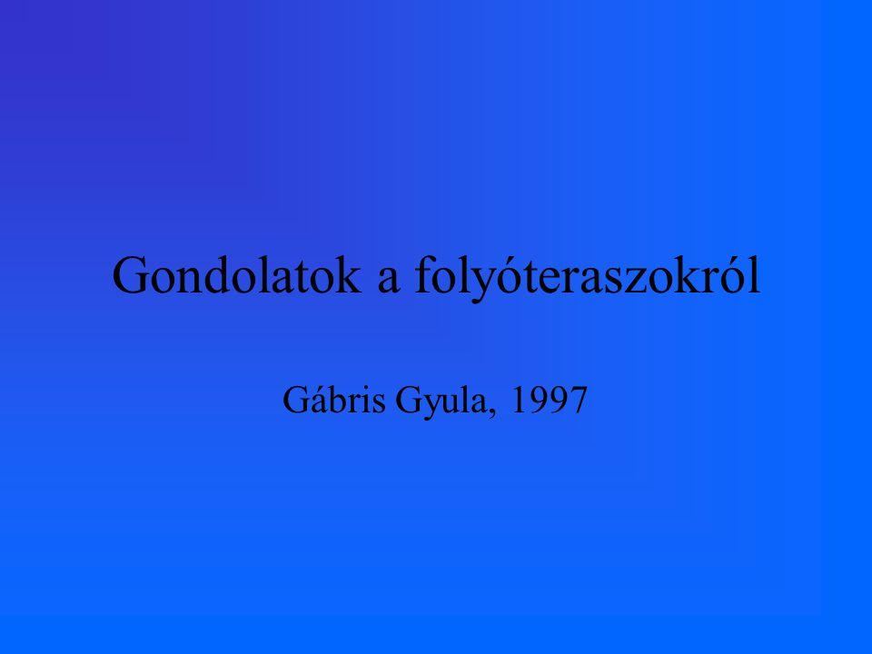 Gondolatok a folyóteraszokról Gábris Gyula, 1997