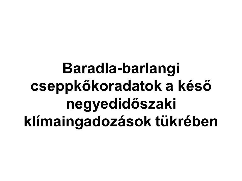 Baradla-barlangi cseppkőkoradatok a késő negyedidőszaki klímaingadozások tükrében