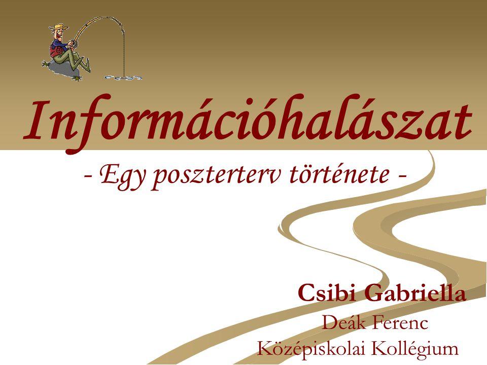 Információhalászat Csibi Gabriella Deák Ferenc Középiskolai Kollégium - Egy poszterterv története -