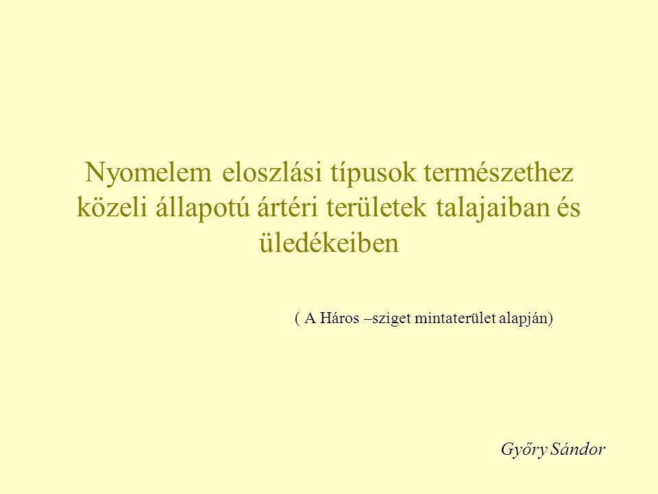 Nyomelem eloszlási típusok természethez közeli állapotú ártéri területek talajaiban és üledékeiben ( A Háros –sziget mintaterület alapján) Győry Sándo