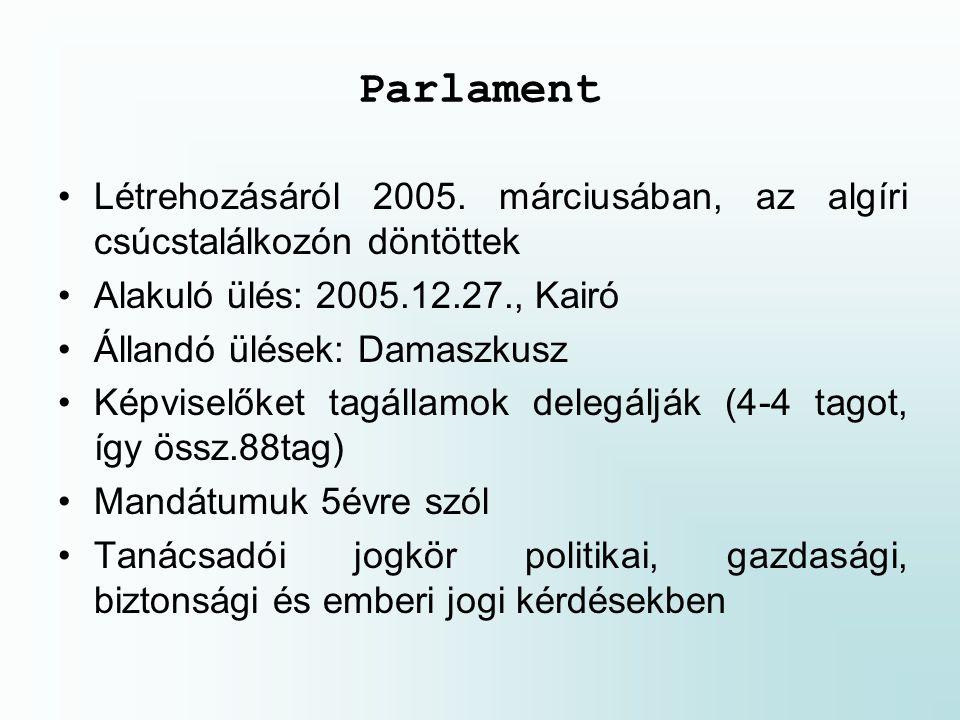 Parlament Létrehozásáról 2005.