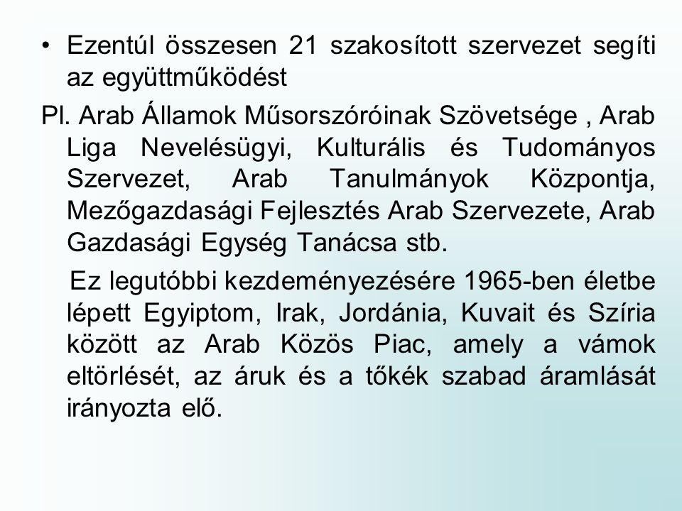 Ezentúl összesen 21 szakosított szervezet segíti az együttműködést Pl.