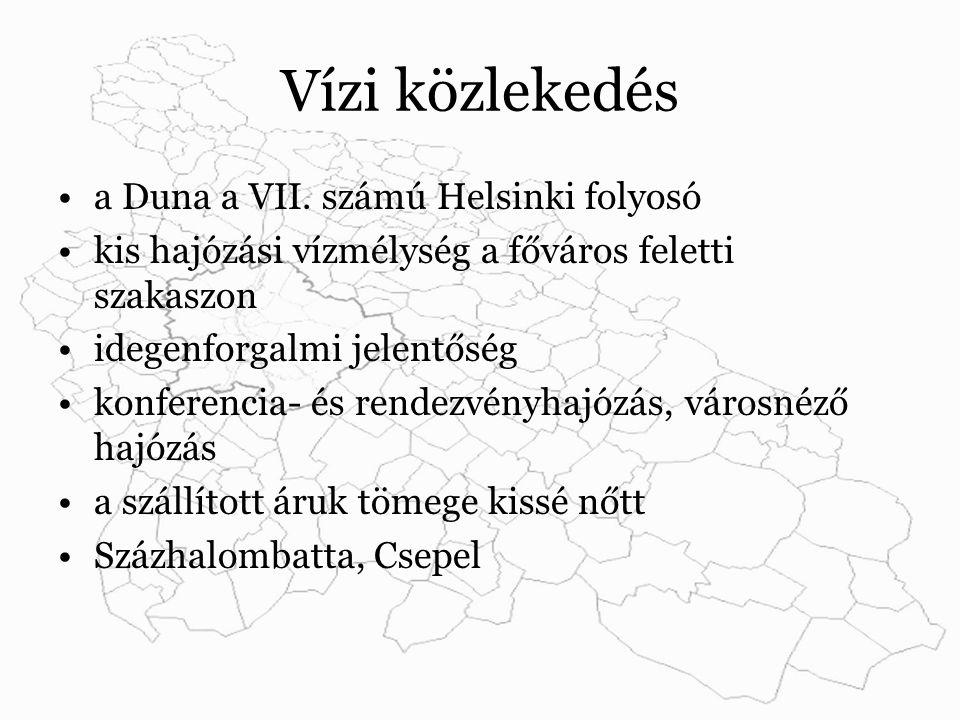 Vízi közlekedés a Duna a VII.