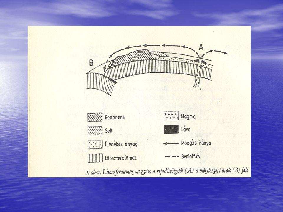 Az óceáni medencék fejlődésének fázisai embrionális fiatal (juvenilis) érett (maturus) hanyatló (posztmaturus) elhaló (szenilis) végső állapot