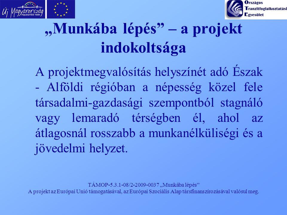 """TÁMOP-5.3.1-08/2-2009-0037 """"Munkába lépés"""" A projekt az Európai Unió támogatásával, az Európai Szociális Alap társfinanszírozásával valósul meg. """"Munk"""