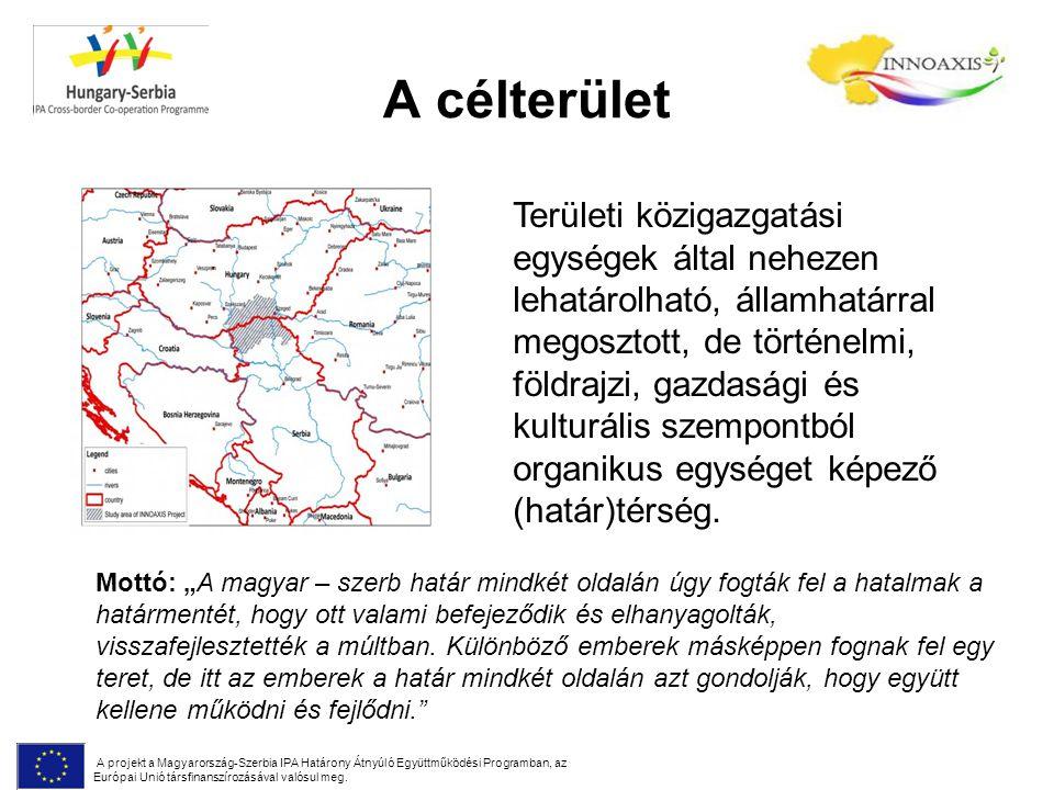 A célterület A projekt a Magyarország-Szerbia IPA Határony Átnyúló Együttműködési Programban, az Európai Unió társfinanszírozásával valósul meg. Terül