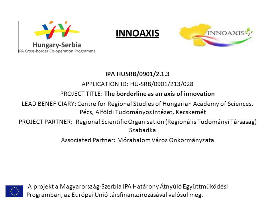 INNOAXIS I.