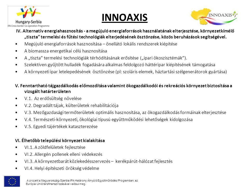 INNOAXIS IV.
