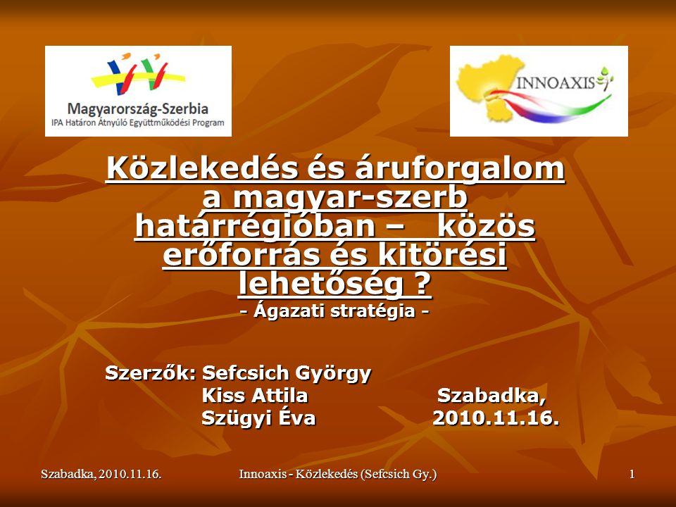 Szabadka, 2010.11.16.Innoaxis - Közlekedés (Sefcsich Gy.)22 Mi akkor a teendő.
