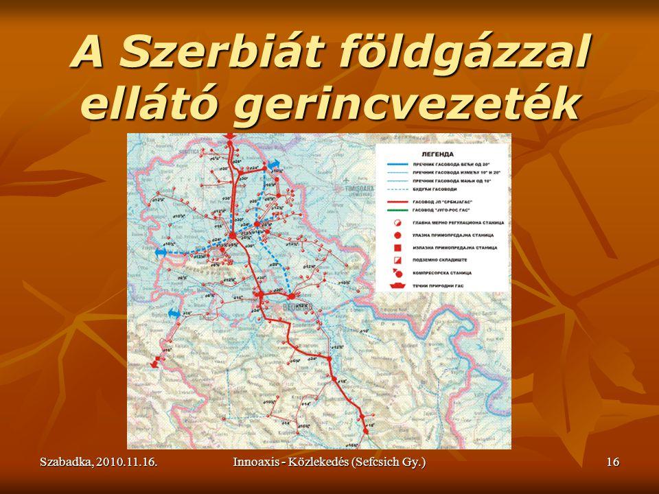 Szabadka, 2010.11.16.Innoaxis - Közlekedés (Sefcsich Gy.)16 A Szerbiát földgázzal ellátó gerincvezeték