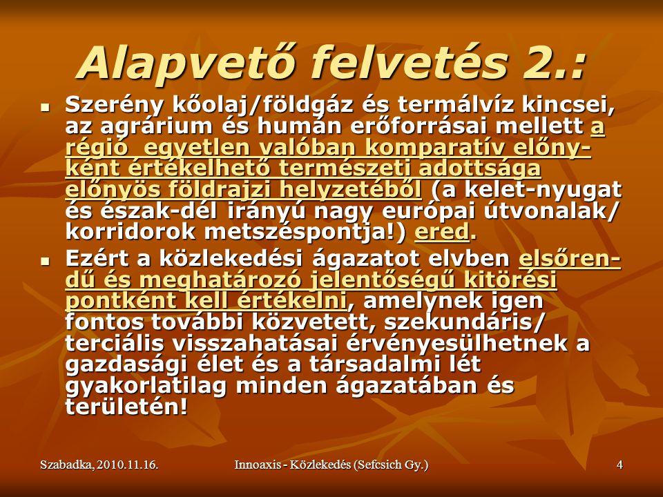 Szabadka, 2010.11.16.Innoaxis - Közlekedés (Sefcsich Gy.)15 Nyugat-Európát ellátó földgázvezetékek