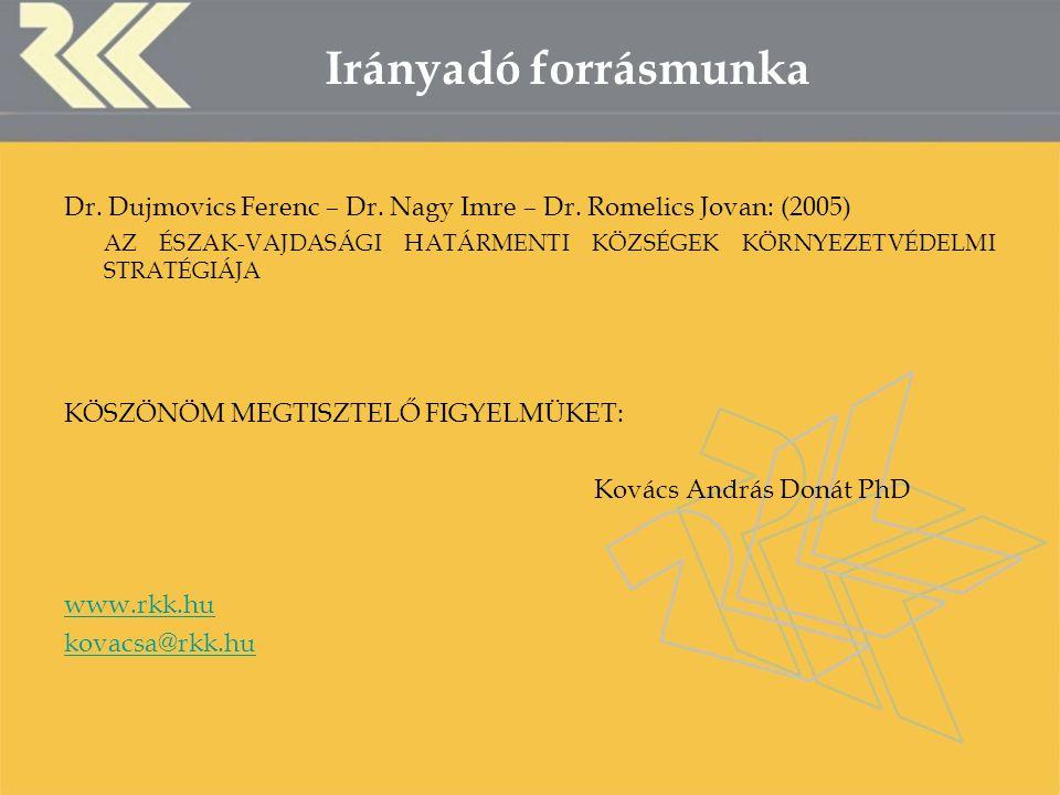 Irányadó forrásmunka Dr. Dujmovics Ferenc – Dr. Nagy Imre – Dr.