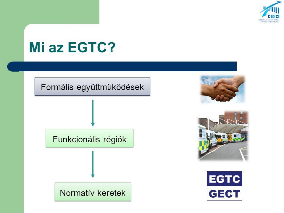 Mi az EGTC? Formális együttműködések Funkcionális régiók Normatív keretek
