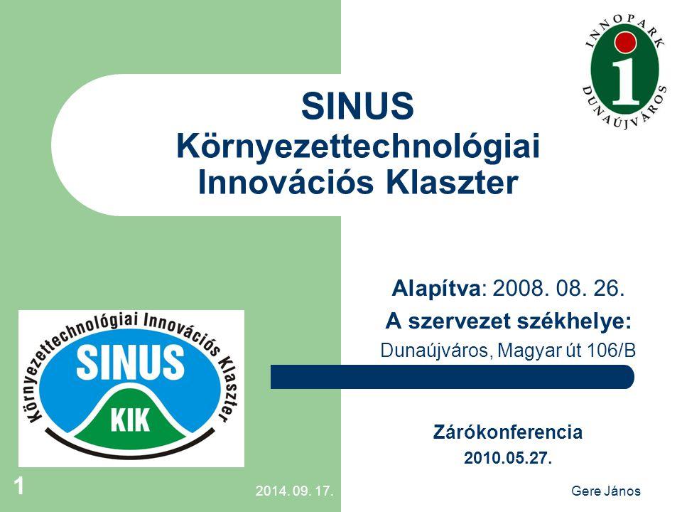 2014.09. 17.Gere János 2 1. INNOPARK Nonprofit Kft.