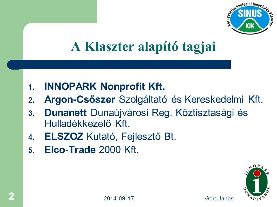 2014.09. 17.Gere János 13 Energetikai és Környezetvédelmi Tanácsadó Iroda Innopark Nonprofit kft.